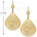 060003 Gold Layered Long Earrings