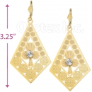 060004 Gold Layered CZ Long Earrings