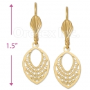 061010 Gold Layered Long Earrings