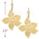 061012 Gold Layered Long Earrings