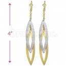 Oro Tex Gold Layered 2-Tone Long Earrings