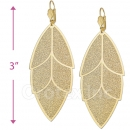 068011 Gold Layered Long Earrings