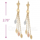 070012 Gold Layered Long Earrings