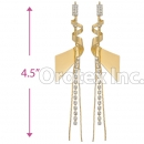 072010 Gold Layered CZ Long Earrings