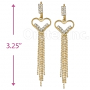 077004 Gold Layered CZ Earrings