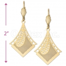 081005 Gold Layered Long Earrings