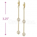 Oro Tex Gold Layered Pearl Earrings