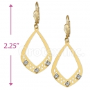 089003 Gold Layered CZ Long Earrings
