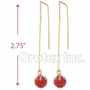 092003 Gold Layered CZ Long Earrings