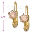 092043 Gold Layered Birth Stone Earrings