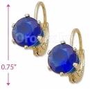 092084 Gold Layered Birth Stone Earrings