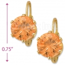 092085 Gold Layered Birth Stone Earrings