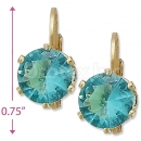 092088 Gold Layered Birth Stone Earrings