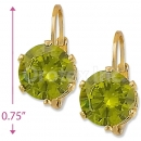 092089 Gold Layered Birth Stone Earrings