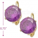 092107 Gold Layered Birth Stone Earrings
