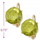 092109 Gold Layered Birth Stone Earrings