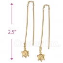 093003 Gold Layered Long Earrings