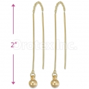 Orotex Gold Layered Long Earrings