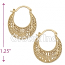 096053 Gold Layered Hoop Earrings
