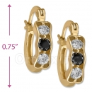 097004  Gold Layered  CZ Huggies Earring