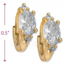 097007  Gold Layered  CZ Huggies Earring