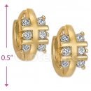 097011  Gold Layered  CZ Huggies Earring