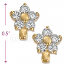 097012  Gold Layered  CZ Huggies Earring