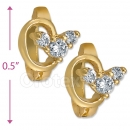 097013  Gold Layered  CZ Huggies Earring