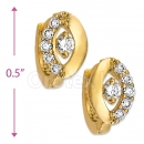 097015  Gold Layered  CZ Huggies Earring