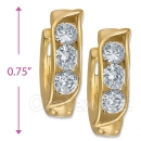 097019  Gold Layered  CZ Huggies Earring