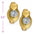 097021  Gold Layered  CZ Huggies Earring
