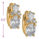 097025  Gold Layered  CZ Huggies Earring