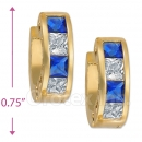 097030BL  Gold Layered  CZ Huggies Earring