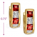097030R  Gold Layered  CZ Huggies Earring