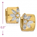 097034  Gold Layered  CZ Huggies Earring