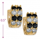 097035BK  Gold Layered  CZ Huggies Earring