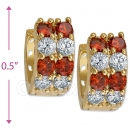 097035R  Gold Layered  CZ Huggies Earring