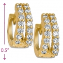 097040  Gold Layered  CZ Huggies Earring