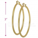 102015 Gold Layered Hoop Earrings