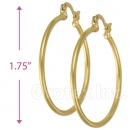 102018 Gold Layered Hoop Earrings