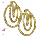 103018 Gold Layered Hoop Earrings