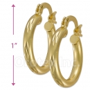 104001 Gold Layered Hoop Earrings