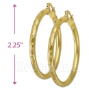 104004 Gold Layered Hoop Earrings
