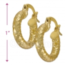 104013 Gold Layered Hoop Earrings