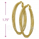 105023 Gold Layered Hoop Earrings