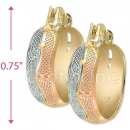 Oro Tex Gold Layered Tri-color Hoop Earrings