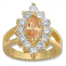 Orotex Gold Layered Yellow & White CZ Women's Ring