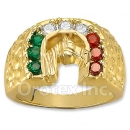 Oro Tex Gold Layered CZ Men's Ring