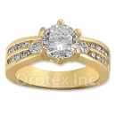 12031 Gold Layered CZ Women's Ring