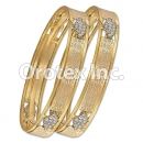 B003 Gold Plated CZ Bangle